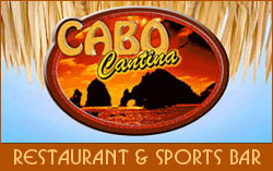 Restaurant and sports bar in downtown Cabo