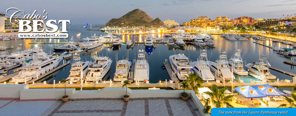 View from private condo rentals in Las Cascasdas de Pedregal, Cabo San Lucas