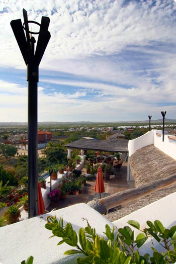 A view from the Sky Terrace to the Roof Terrace at Cabo Casa Contenta
