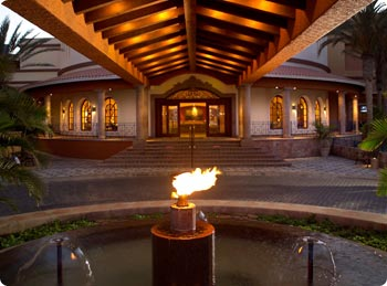 The lobby entrance at Playa Grande Resort in Cabo San Lucas