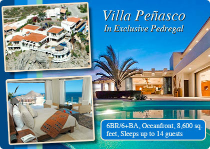 Vacation villa in Cabo San Lucas, Oceanfront in Pedregal