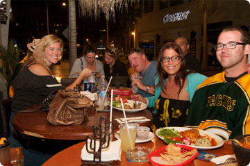 Folks having dinner at Cabo Cantina, Cabo San Lucas