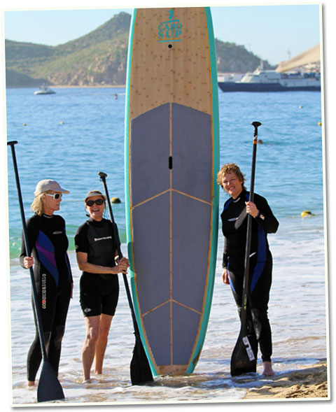 Stand Up Paddle Boarding in Cabo isn't just for young people.